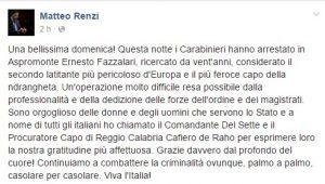 renzi facebook boss